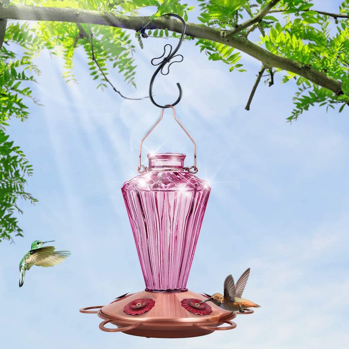 diamond shape hummingbird feeder