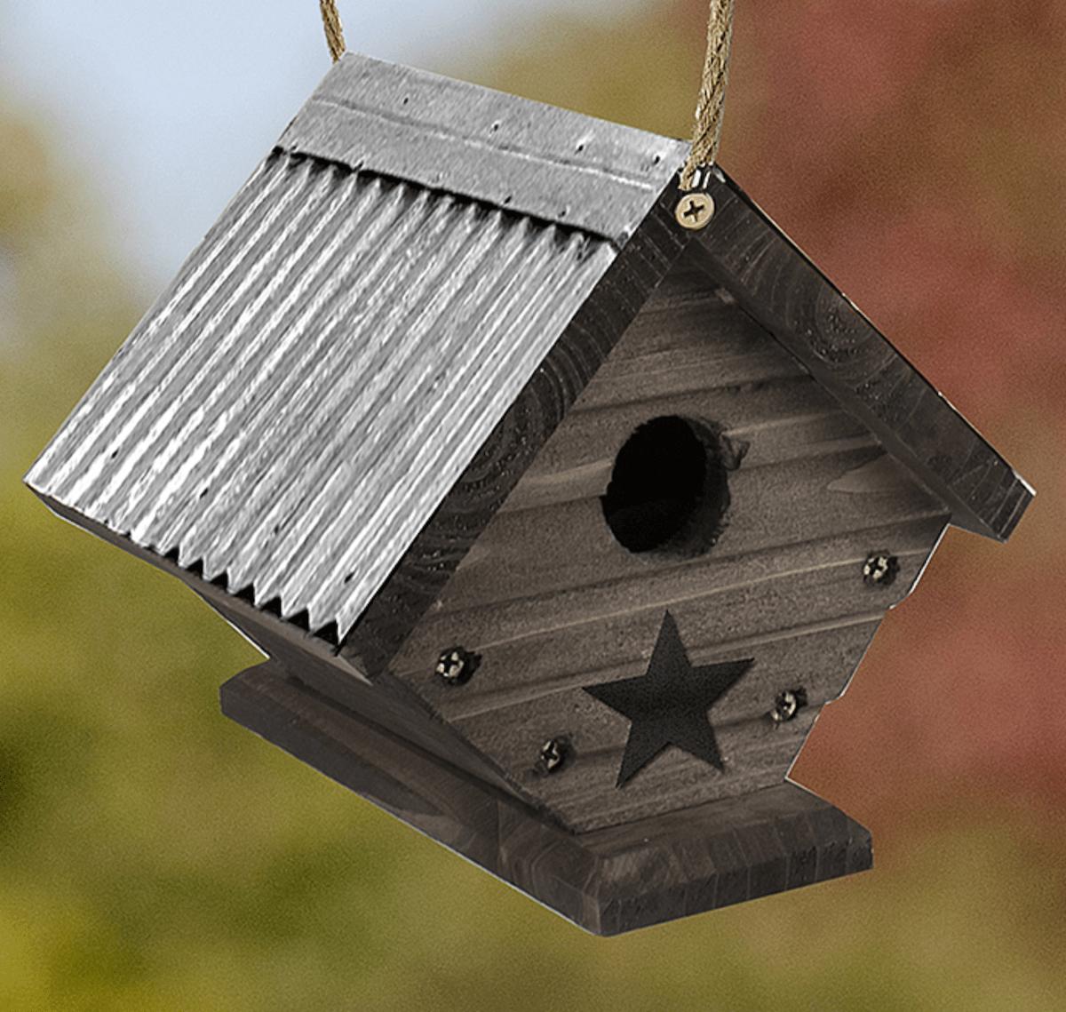 rustic farm birdhouse