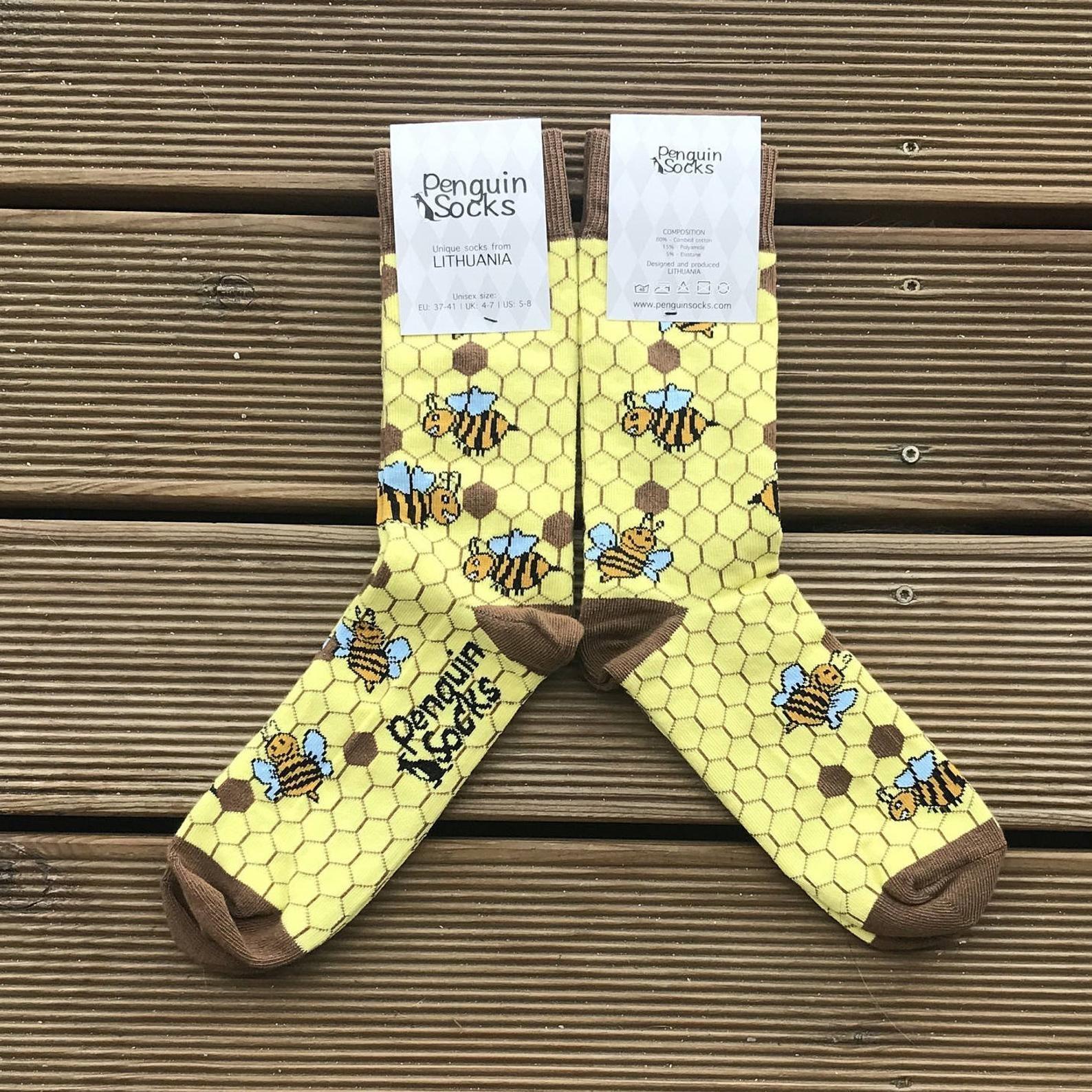 bee lover gift socks