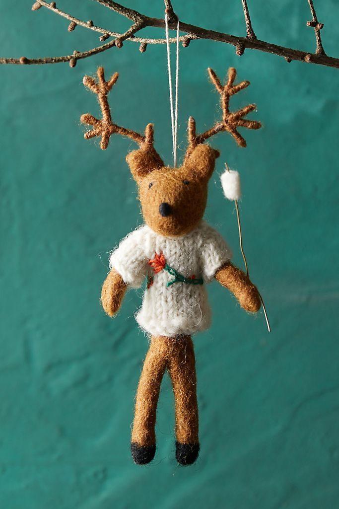 campfire deer ornament