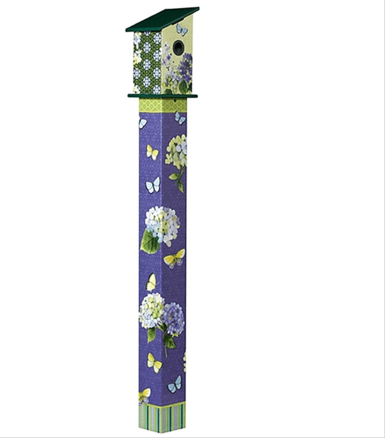 birdhouse art pole