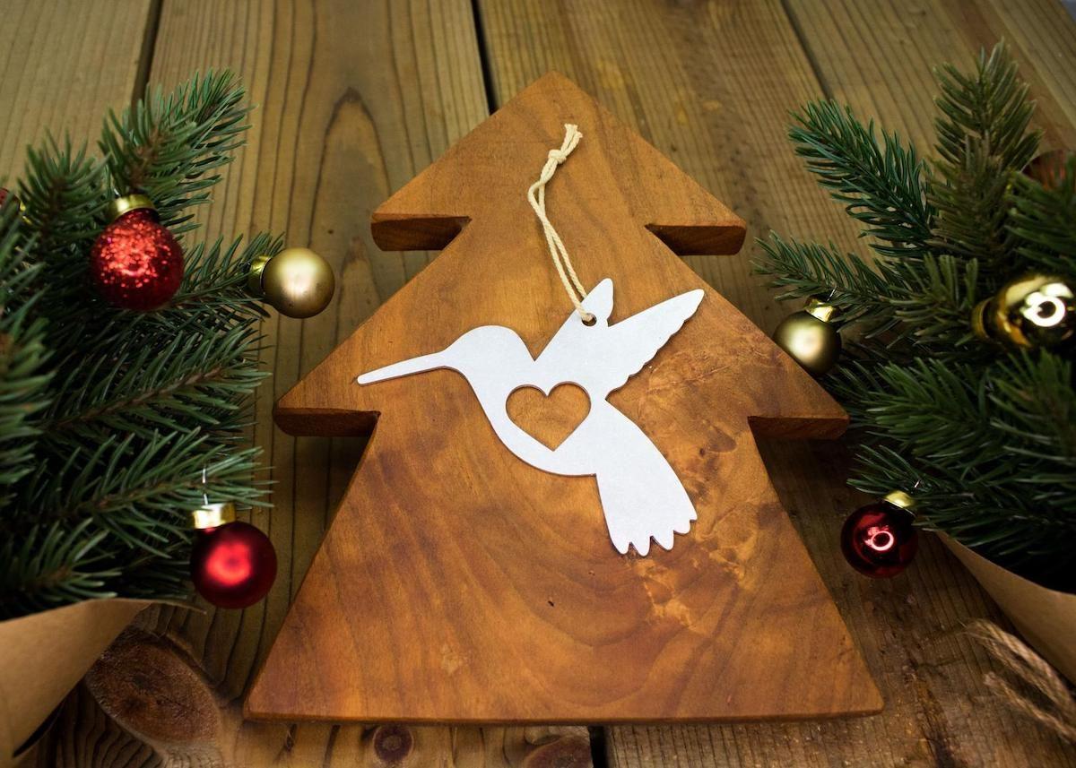 hummingbird gift christmas ornament