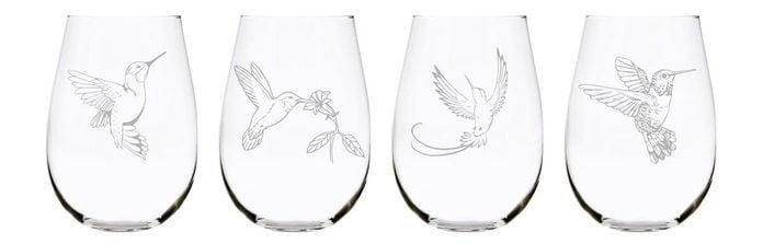 hummingbird wine glasses