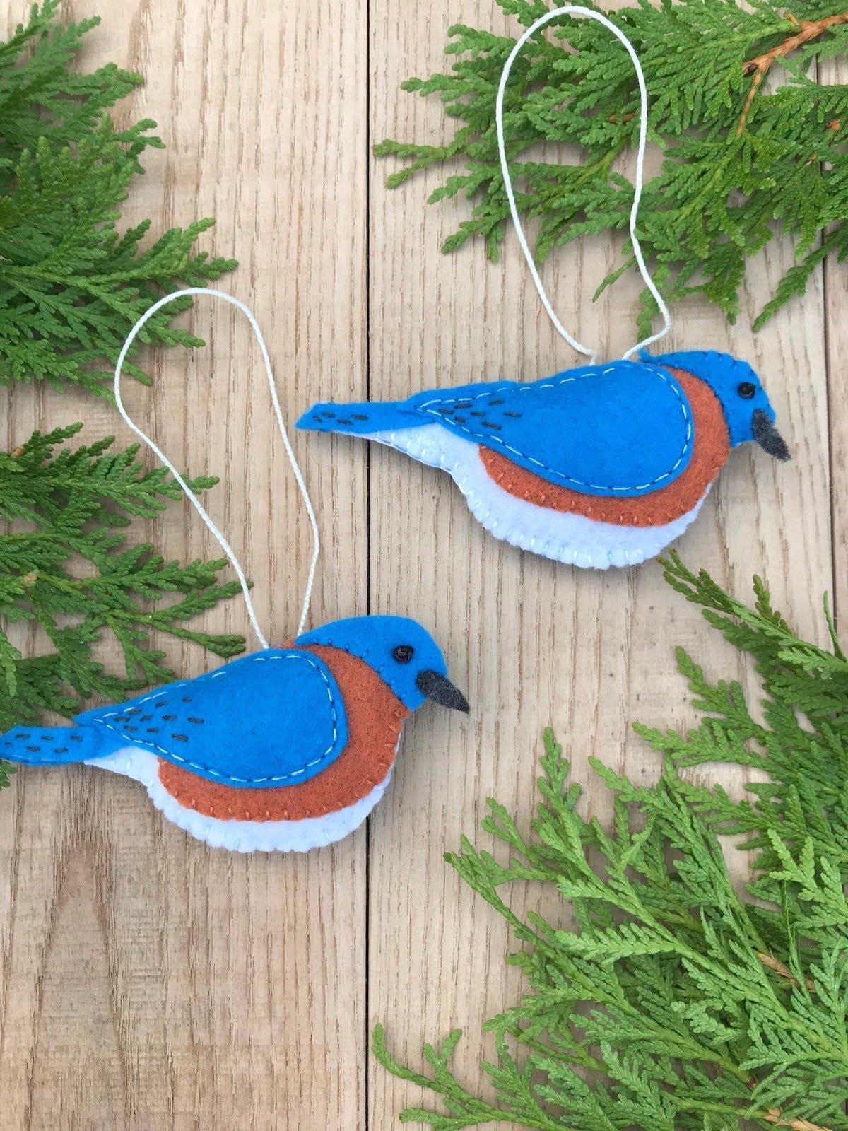 bluebird ornaments