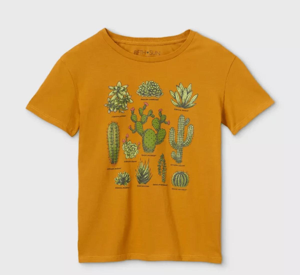 Gold cactus shirt
