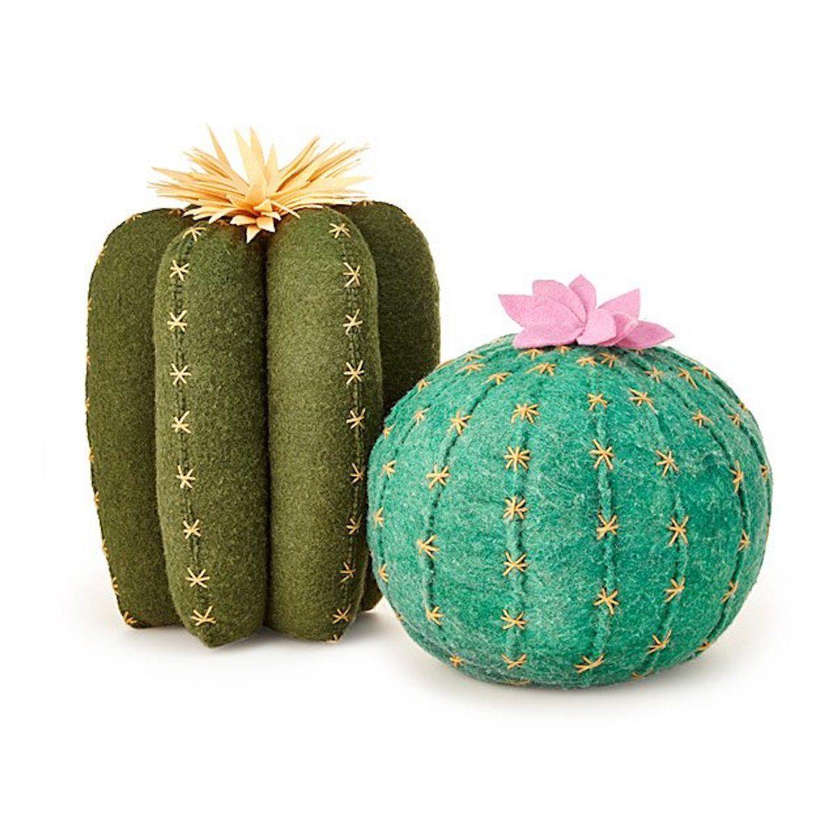 Cactus throw pillows