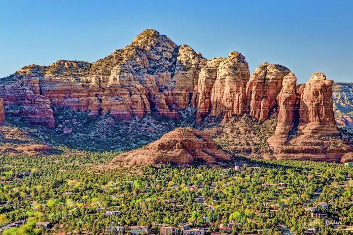 A view of Sedona, Arizona's red rocks.