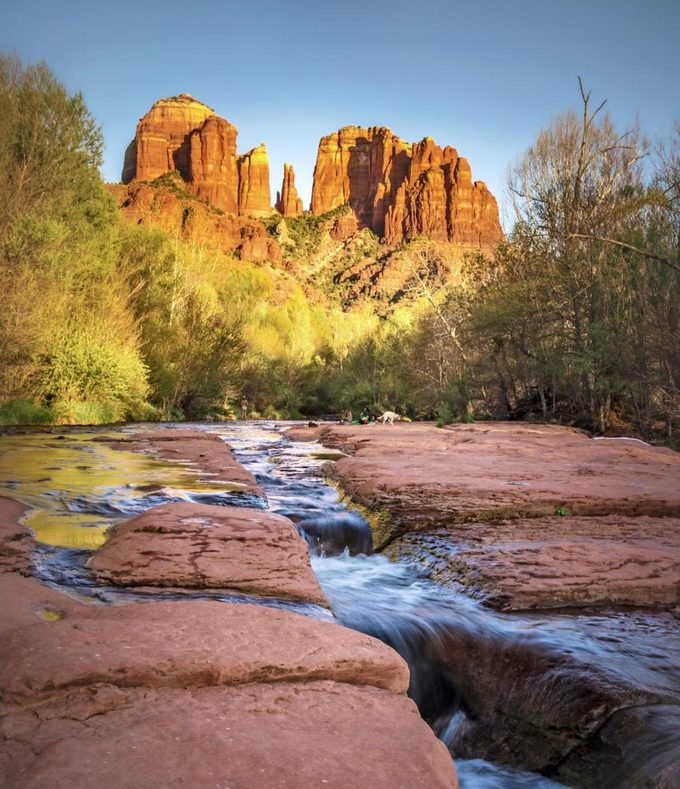 A view of Cathedral Rock in Sedona, Arizona