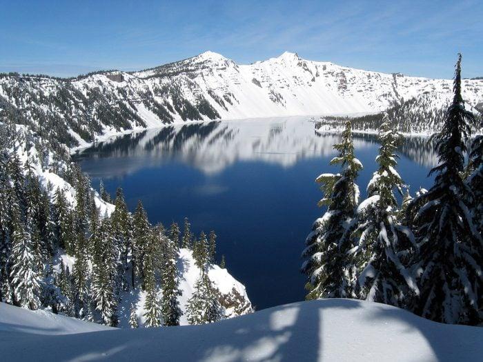beautiful winter picture in Oregon