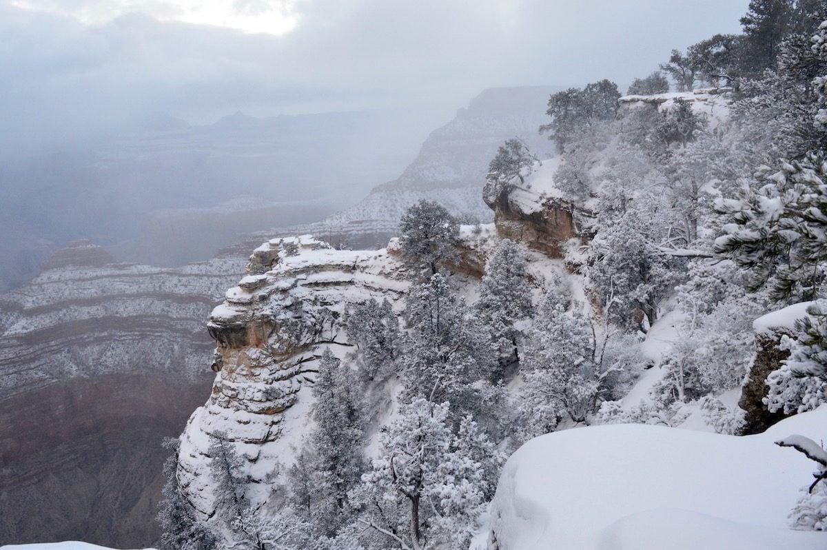 winter at the grand canyon