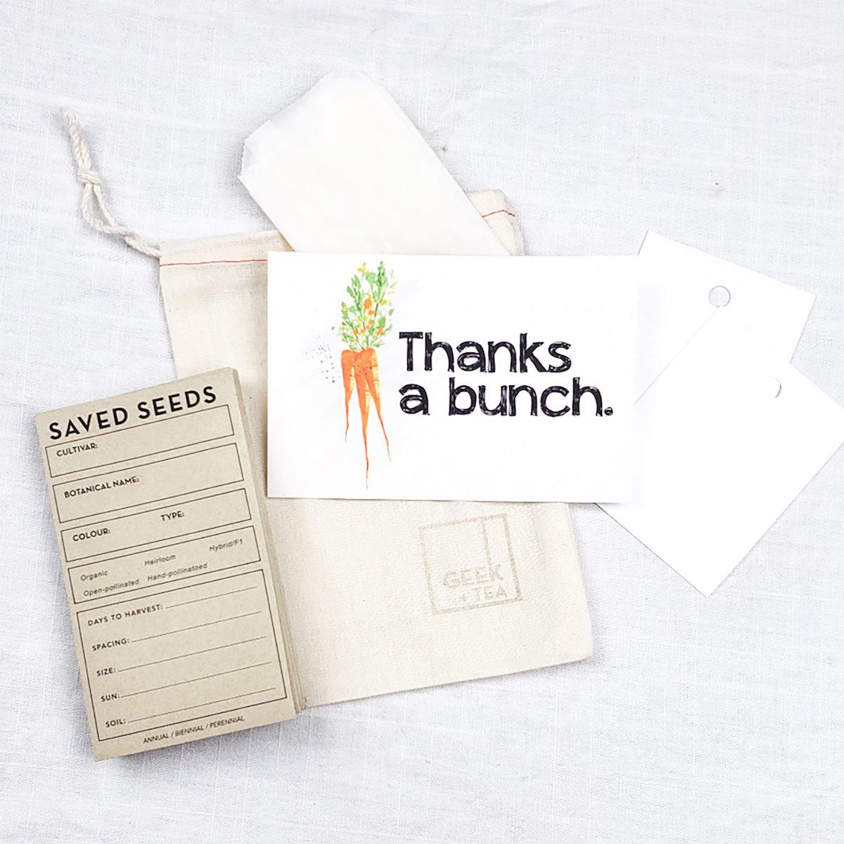 Etsy seed storage envelopes