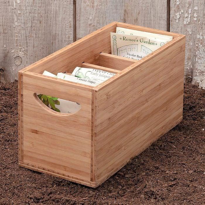 Garrett Wade seed storage box