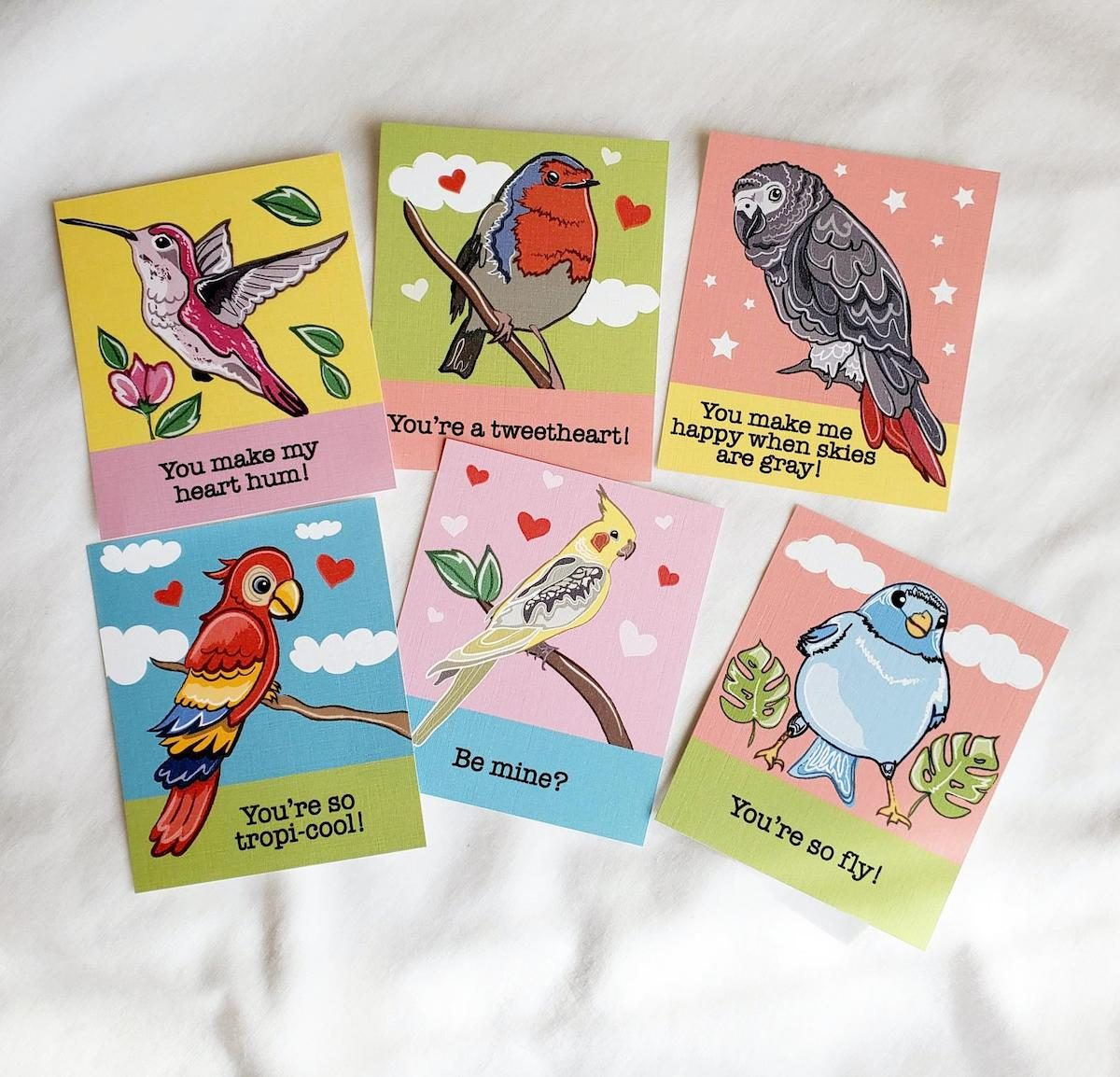 mini bird cards