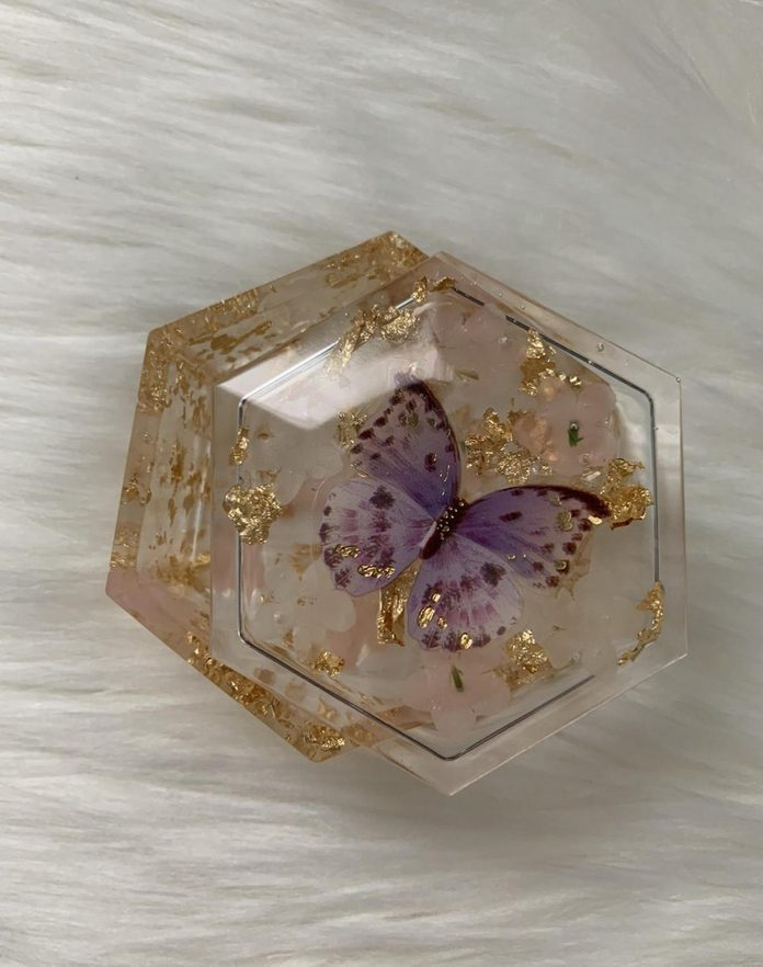 butterfly resin box