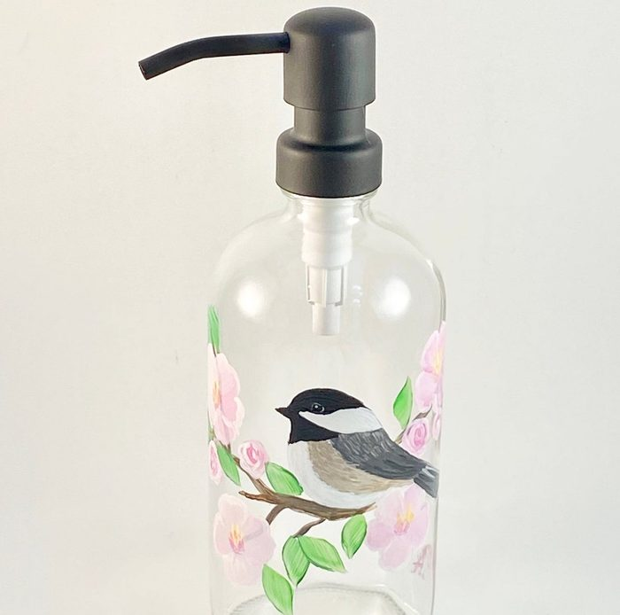 bird bathroom decor soap dispenser