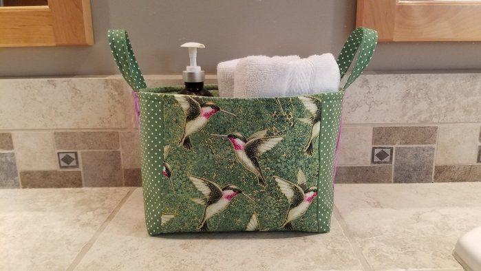 hummingbird storage basket