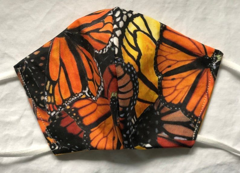 monarch butterfly face mask