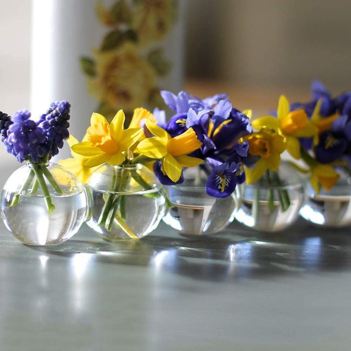 caterpillar bud vases