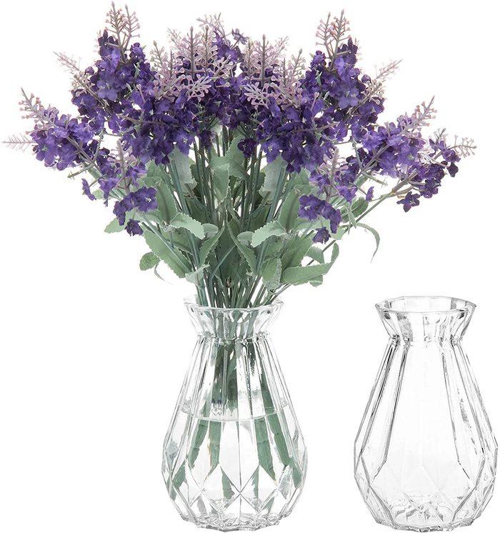 diamond faceted vase