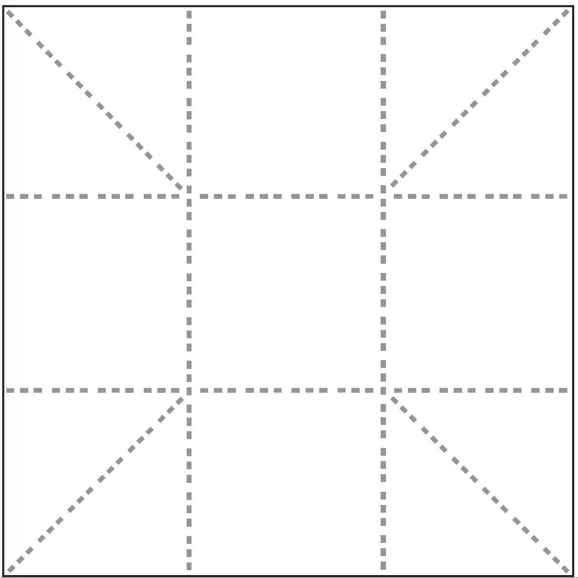 The folding pattern for the newspaper pot.