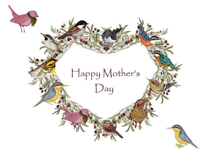 mothers day bird card