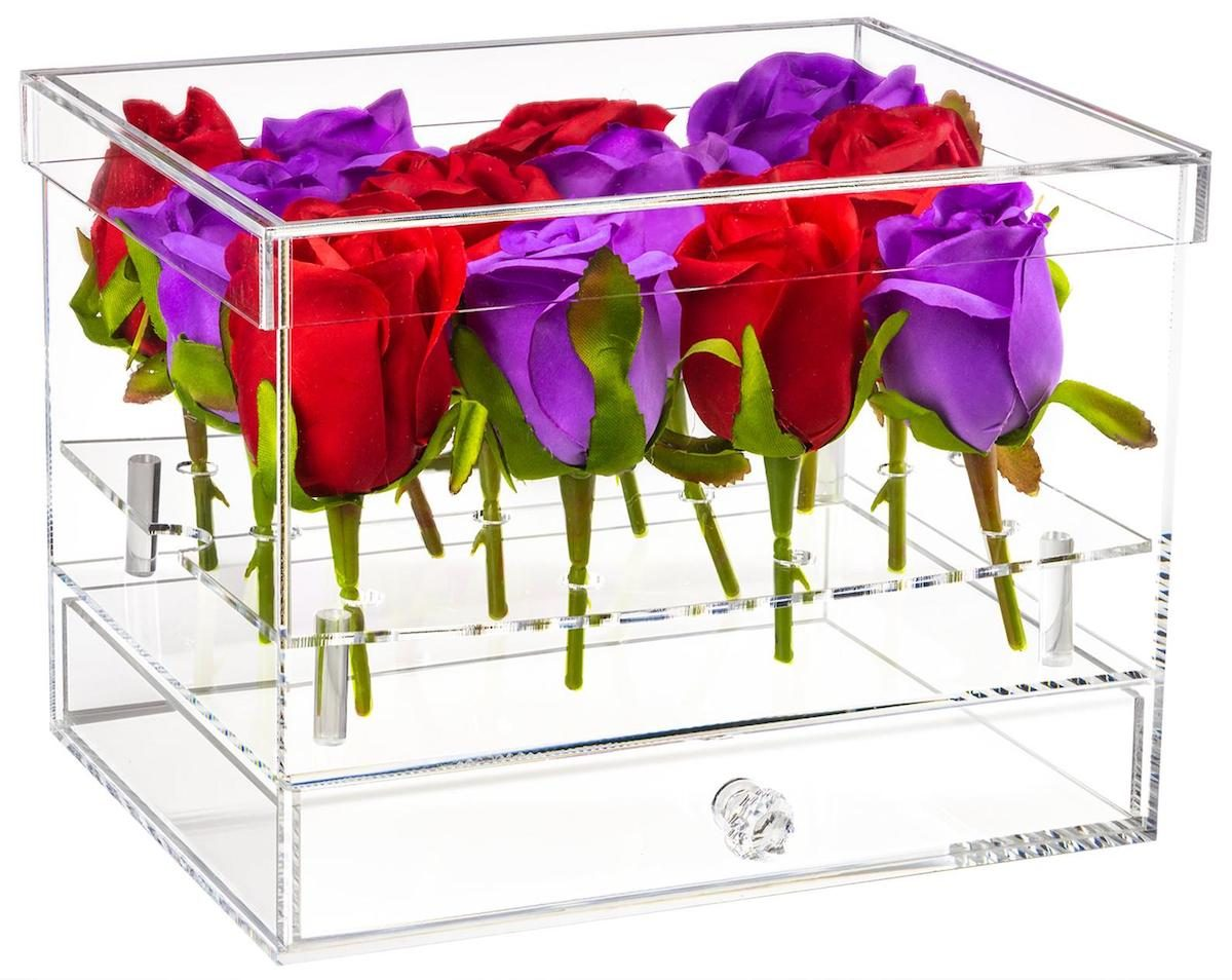 acrylic flower display case