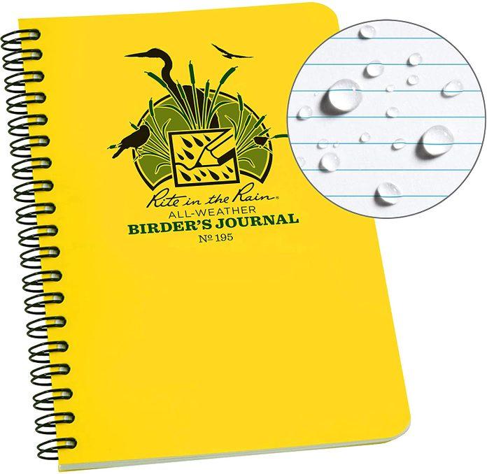 rain proof birders notebook