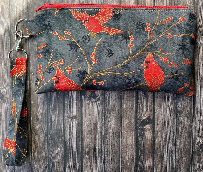cardinal zipper pouch