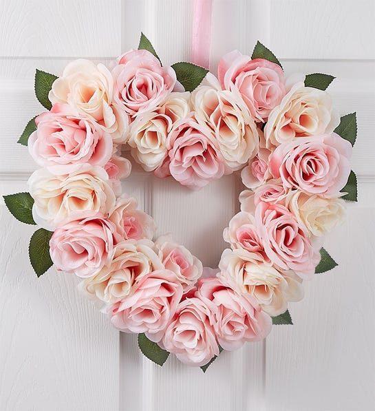 heart shaped rose gift wreath