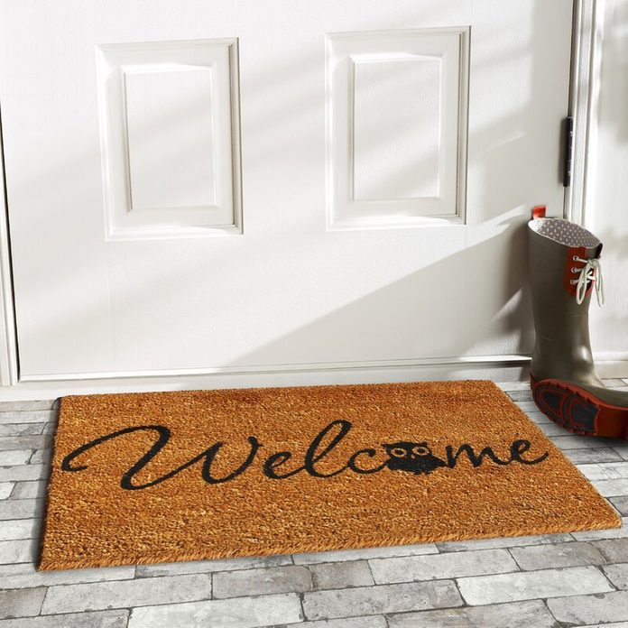 Artemas+barn+owl+welcome+non Slip+outdoor+door+mat
