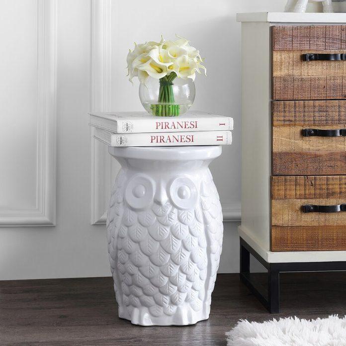 Middlet+owl+ceramic+garden+stool