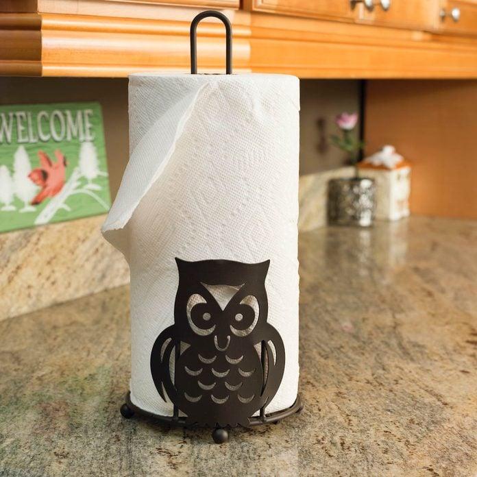 Owl+free+standing+paper+towel+holder