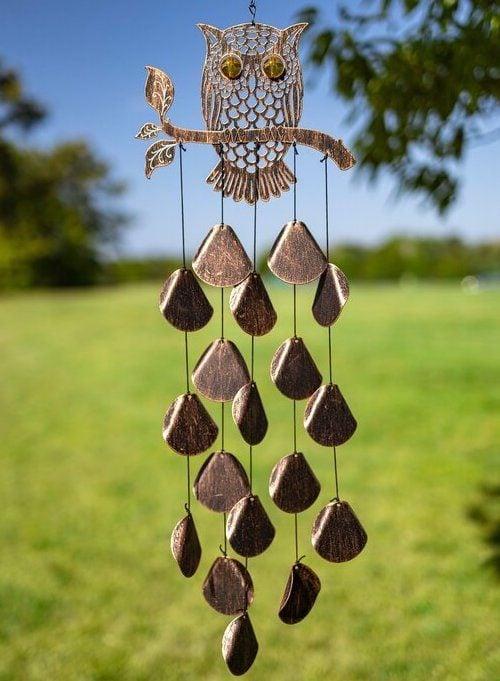 Spriggs+owl+outdoor+garden+decor+wind+chime