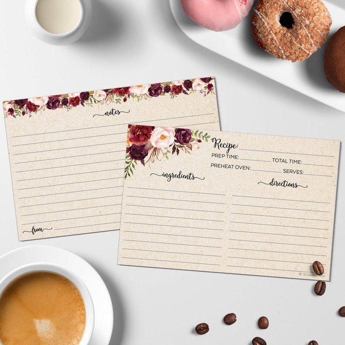 rose recipe cards