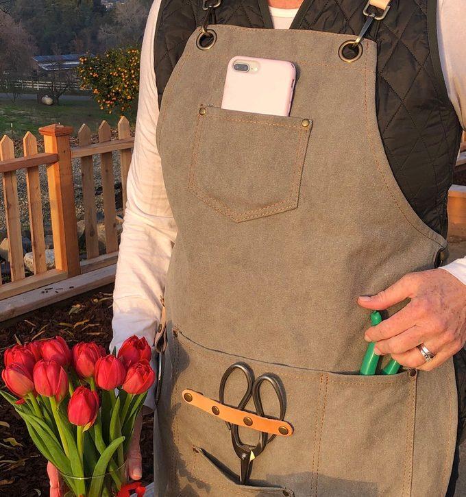 waxed garden apron