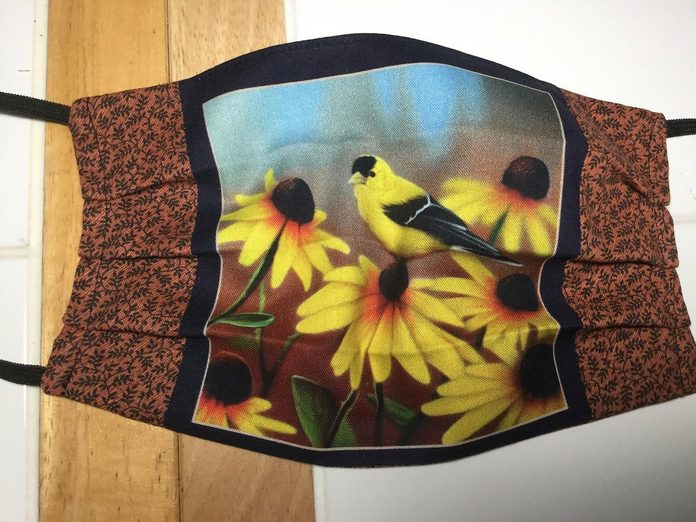 goldfinch face mask