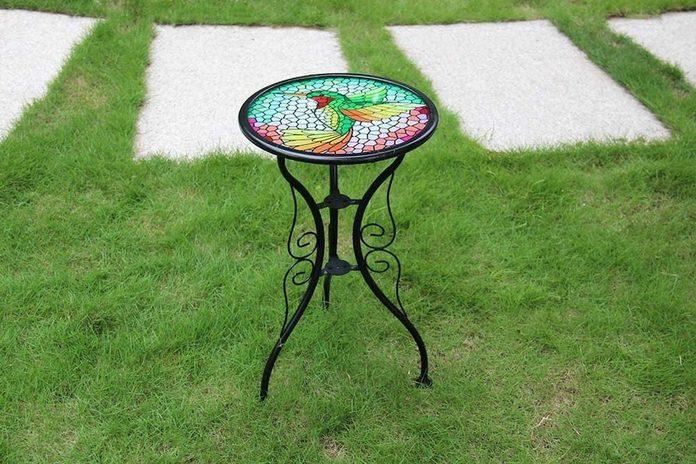hummingbird mosaic table