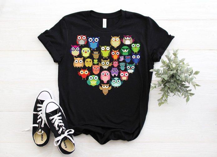 owl tshirt, owl gifts