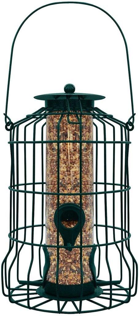 caged tube feeder