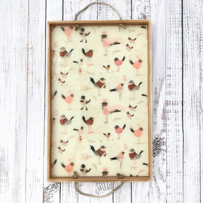 bird serving tray