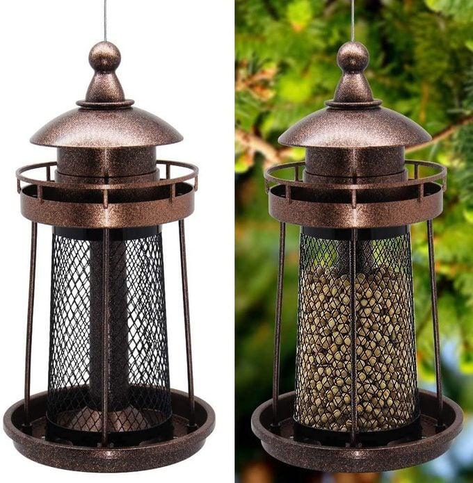 lighthouse shaped peanut feeder