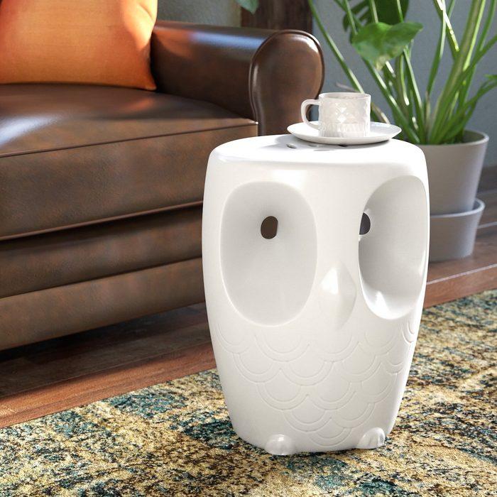 Noreen+owl+garden+stool