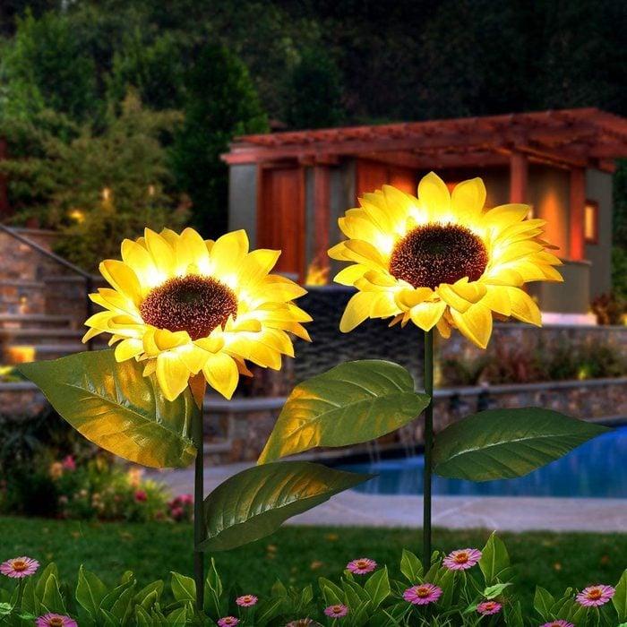 sunflower garden stake