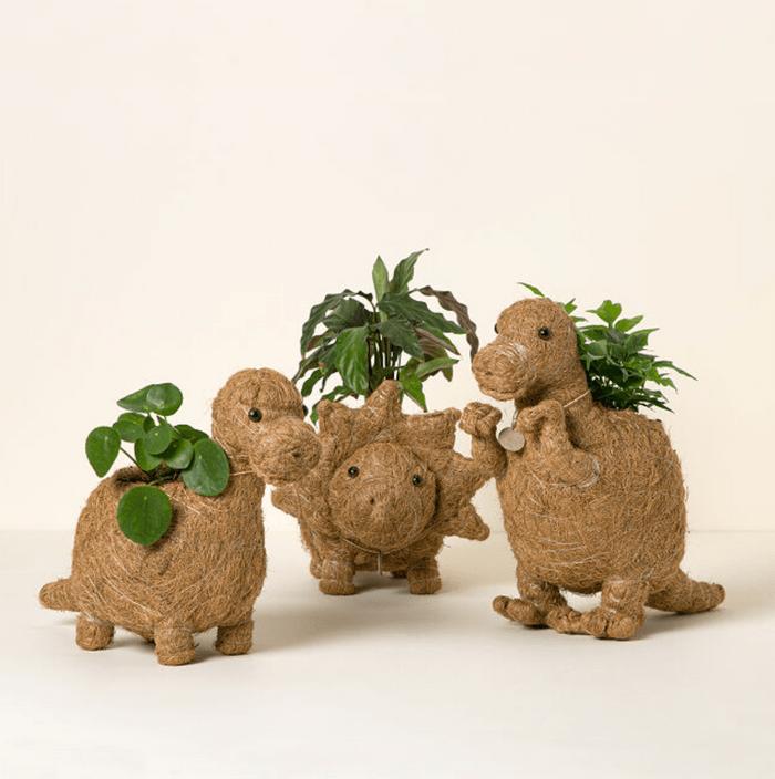 Coconut Fiber Dinosaur Planter