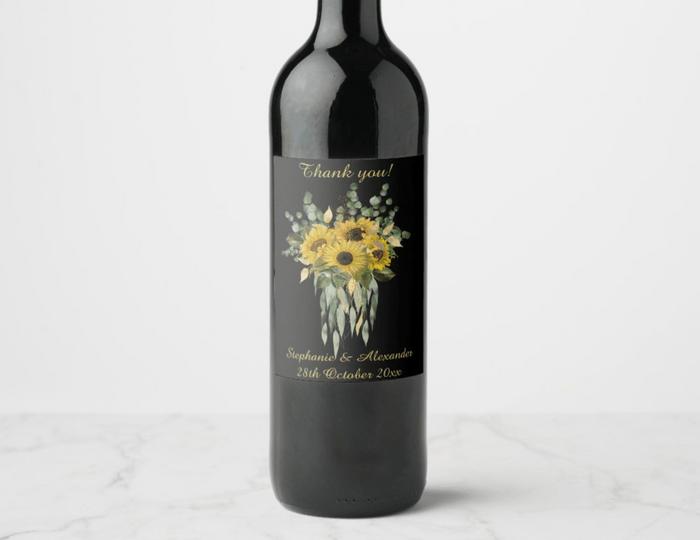 sunflower wine label