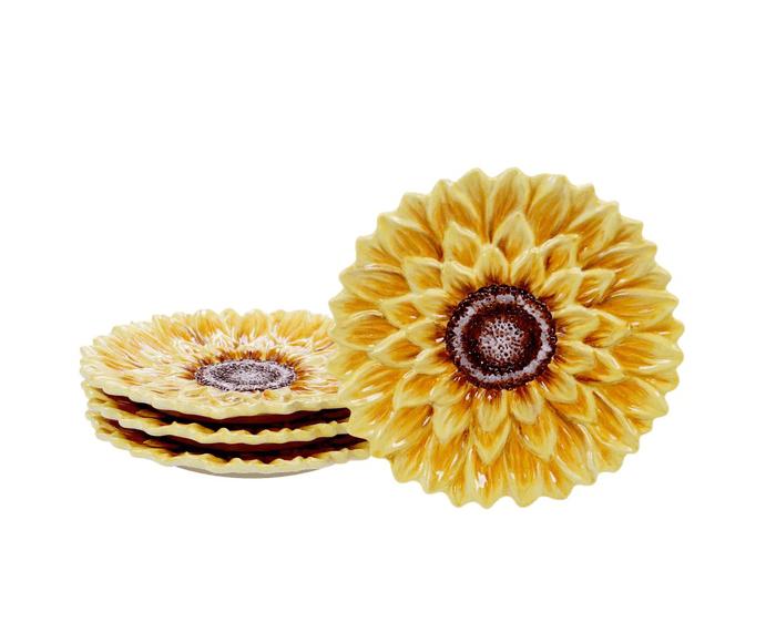 sunflower dessert plates