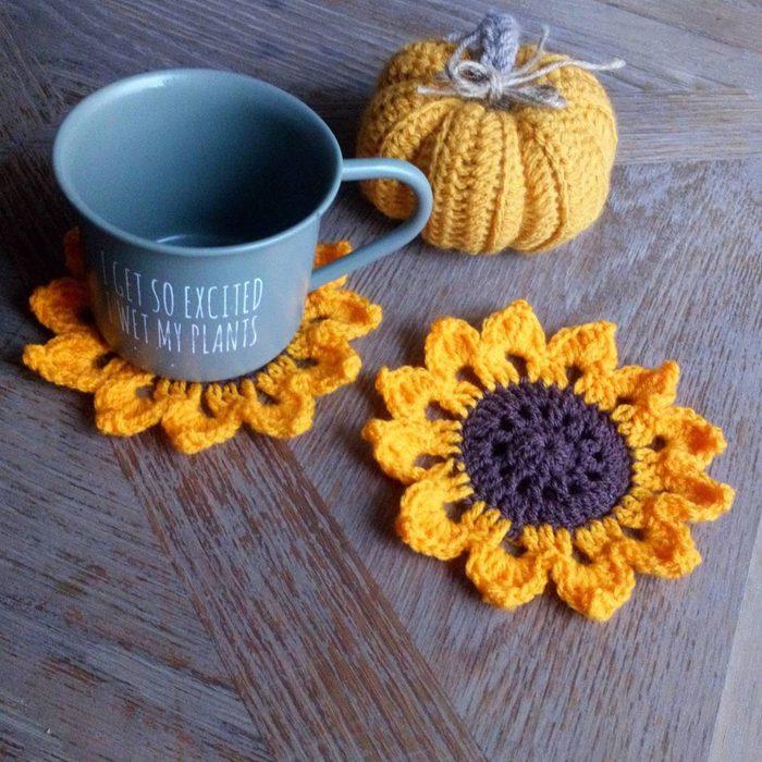 sunflower coasters