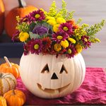 Fall Decorating: Fill a Pumpkin With Flowers