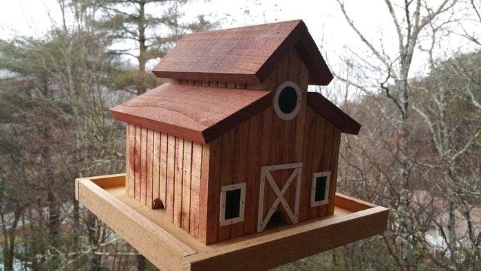 barn bird feeder