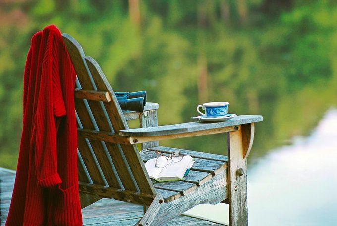 Adirondack Chair At Lake